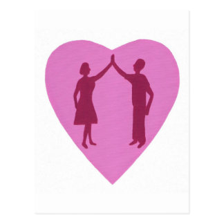 High Five with male and female, win win design Postcard