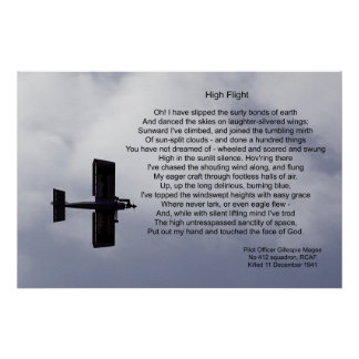 High Flight Poem Poster