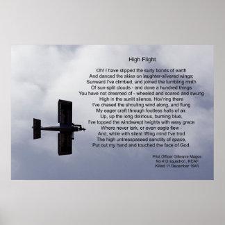 High Flight Poem Poster