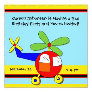 High Flying Airplane Birthday Party Invitations