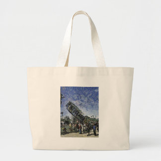High Flying Carrousel Large Tote Bag