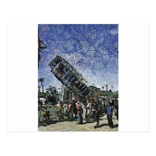 High Flying Carrousel Postcard