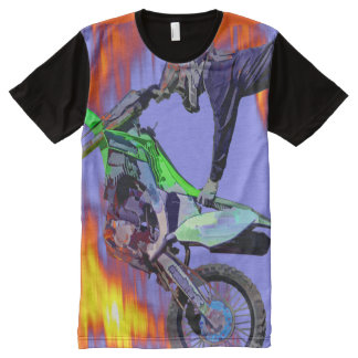 High Flying Freestyle Motocross Rider All-Over Print T-shirt