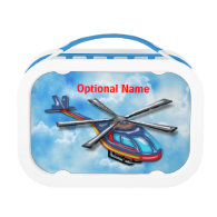 High Flying Helicopter in the Clouds Yubo Lunchbox