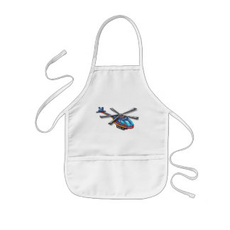 High Flying Helicopter Kids' Apron