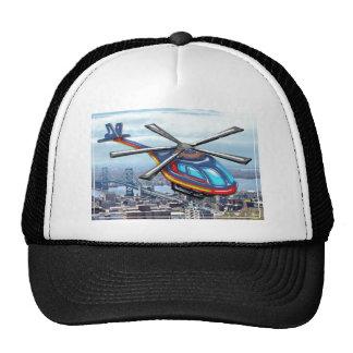 High Flying Helicopter Over Highways Trucker Hat