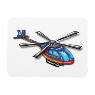 High Flying Helicopter Rectangular Photo Magnet