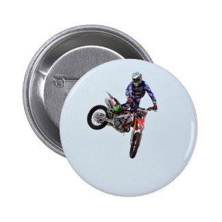High Flying Motocross Pinback Button