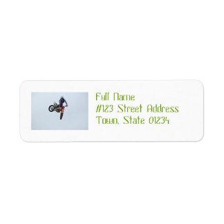 High Flying Motocross Custom Return Address Labels