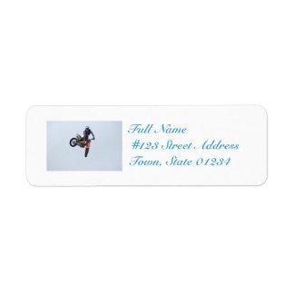 High Flying Motocross Custom Return Address Label