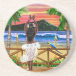 """High Flying Scarecrow Coaster<br><div class=""""desc"""">Either for your Tiki bar or for your guests at any time,  enjoy that luau tropical drink whenever you begin to view this tropical island in the South Pacific loving you with a cute Hawaiian sunset hula dancer.</div>"""