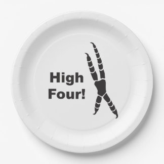 High Four Parrot Footprint (High Five) Paper Plate