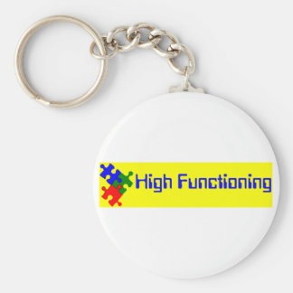 High Functioning Autistic Basic Round Button Keychain