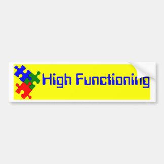 High Functioning Autistic Bumper Sticker