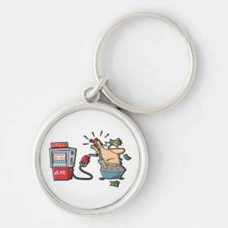 High Gas Prices Cartoon Characters Keychain