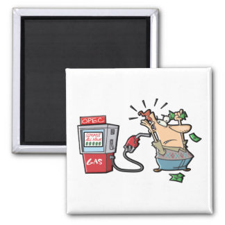 High Gas Prices Cartoon Characters Magnet