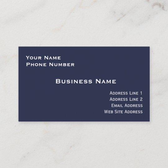 High gloss business card midnight blue zazzle high gloss business card midnight blue colourmoves