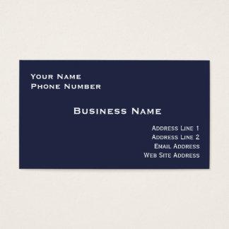 High Gloss Business Card (Midnight Blue)