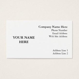 High Gloss Finish Business Card