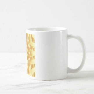 High grade gold metal background classic white coffee mug