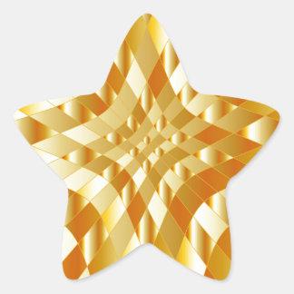 High grade gold metal background star sticker