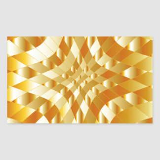 High grade gold metal background rectangle stickers