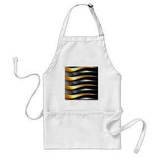 High grade gold metal waves adult apron