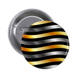 High grade gold metal waves pins