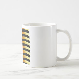 High grade gold metal waves coffee mug