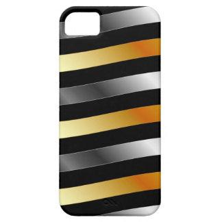 High grade gold metal waves iPhone SE/5/5s case