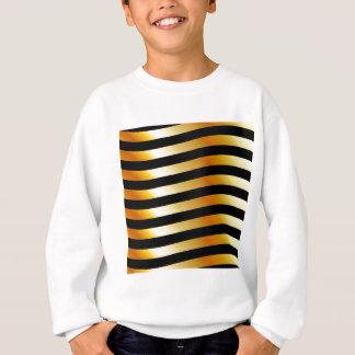 High grade gold metal waves sweatshirt