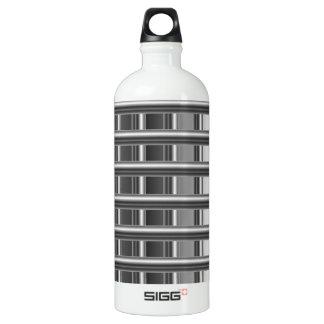 High grade silver background water bottle
