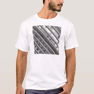 High grade silver metal graphic T-Shirt