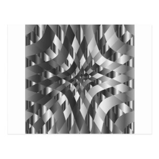 High grade stainless steel backdrop postcard