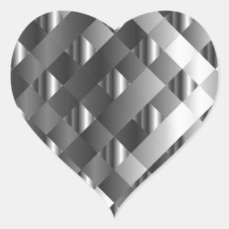 High grade stainless steel heart sticker