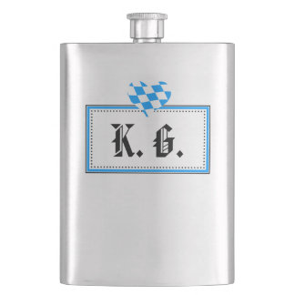 High-grade steel flat man hip flask