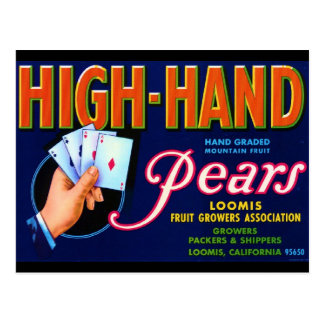 High Hand Pears Post Card