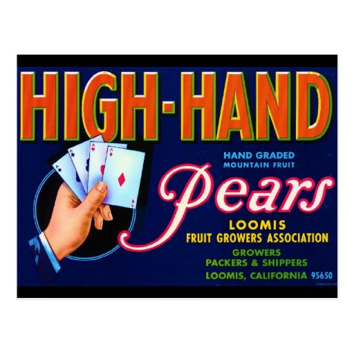 High Hand Pears Postcard