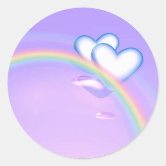 High Hearts Wedding Classic Round Sticker