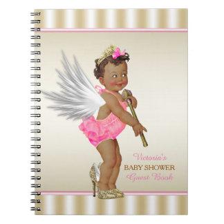 High Heel Angel Ethnic Girl Baby Shower Guest Book
