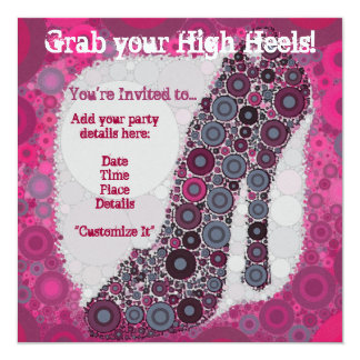 High Heel Invitations Quinceanera Bachelorette