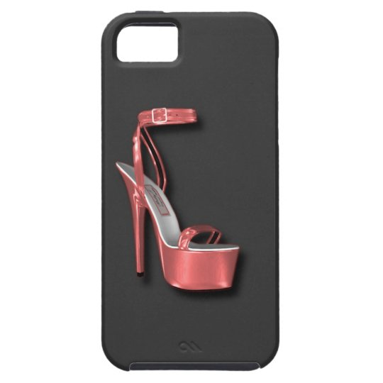 High Heel Ladies Shoe Pink Shiny iPhone SE/5/5s Case