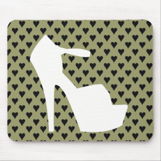HIGH HEEL - PUMP IT UP SAGE ON STAGE HEARTS MOUSE PAD