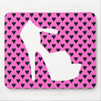 HIGH HEEL - PUMP IT UP SASSY PINK HEARTS MOUSE PAD