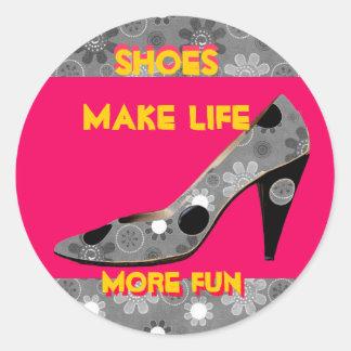 High Heel Pumps are Fun Classic Round Sticker
