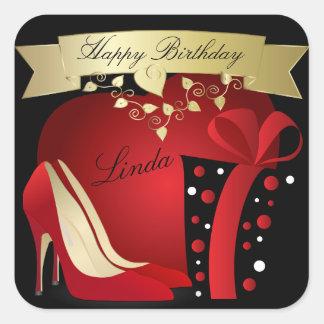 High Heel Pumps Birthday Celebration | Customize Square Sticker