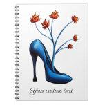 High Heel Shoe And Flower Bouquet Art Notebook