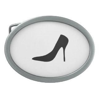 High Heel Shoe Oval Belt Buckle