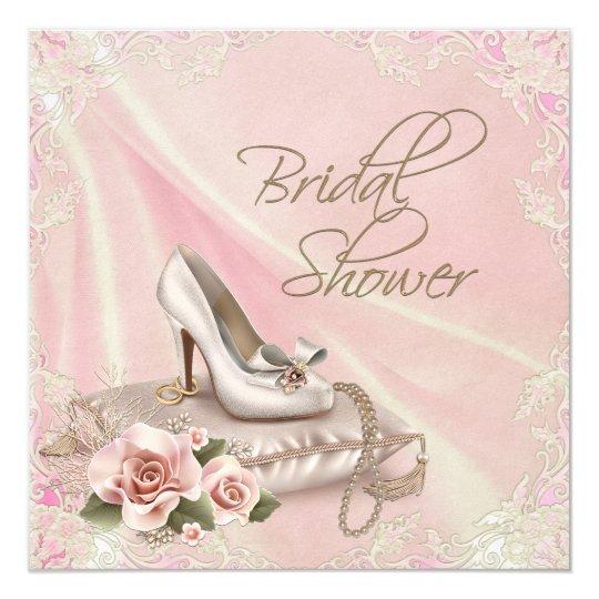 high heel shoe bridal shower invitation