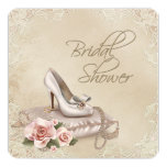 "High Heel Shoe Bridal Shower 5.25"" Square Invitation Card"